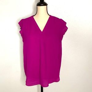 Cute Flutter Sleeve Blouse by Chaus